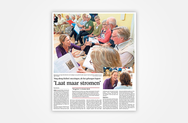 Zingen in de Zorg Noord-Hollands Dagblad September 2018